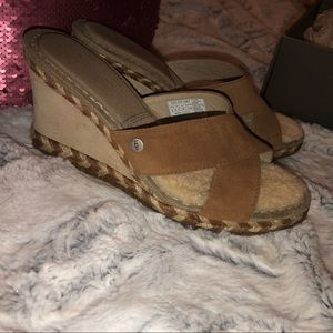 UGG Margot chestnut wedge sandal
